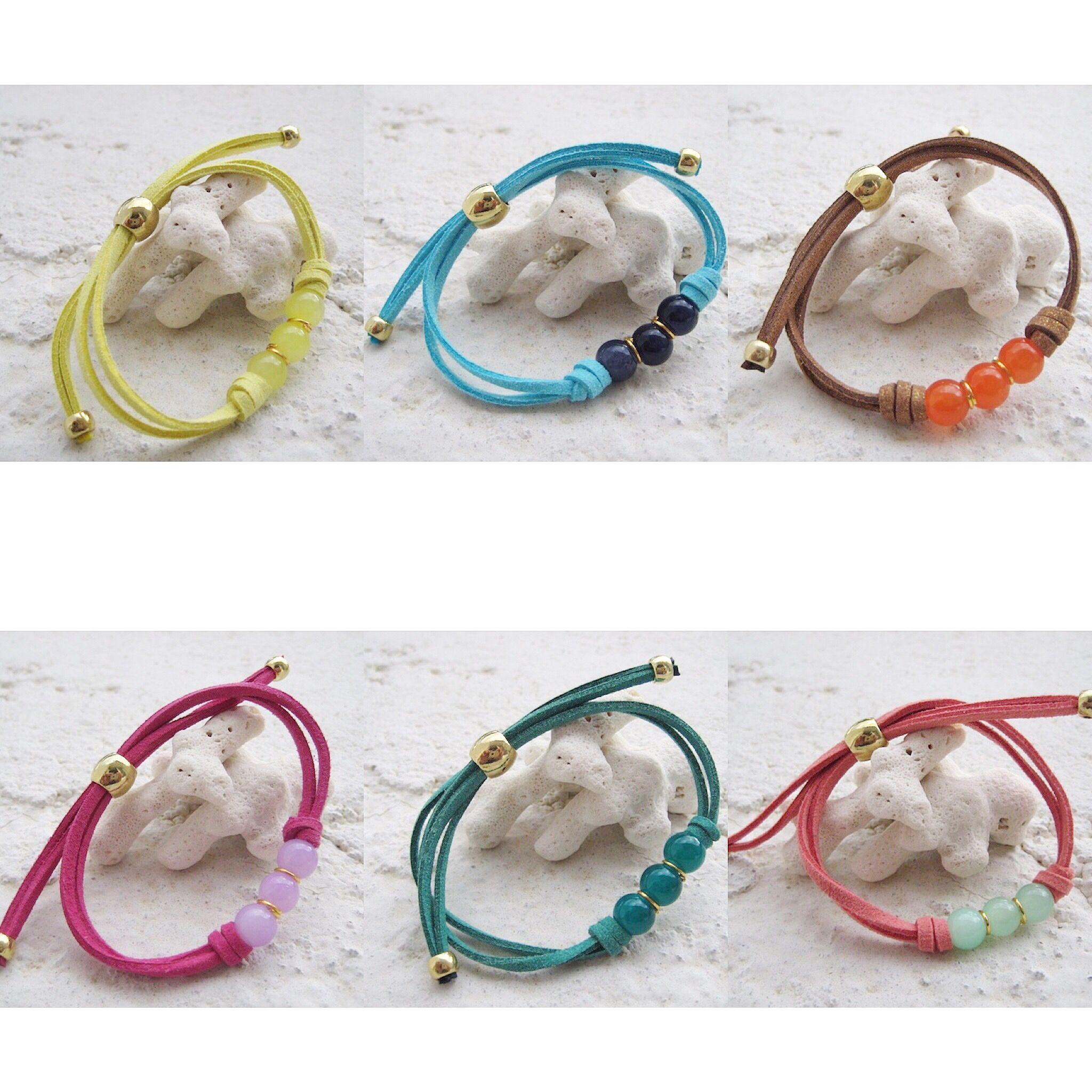 --- www.shopmatahari.com --- Pulsera básica de colores // Bracelets basic colors