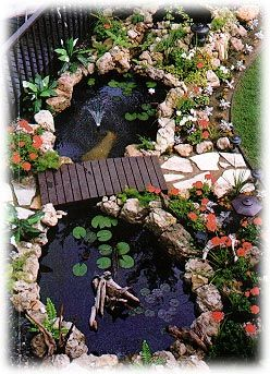 Lawn ponds patio ponds goldfish ponds waterfalls for Koi import el patio