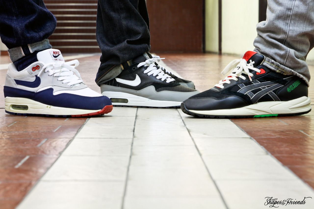 Nike air max 1 running shoes - Asics Gel Saga Patta Sample X Nike Air Max 1 Original Mesh Midnight Navy X Nike