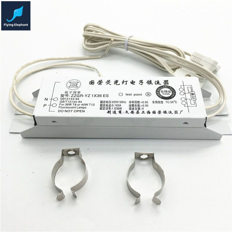 1 Pcs Ac220v 1x Output T8 Electronic Ballast 20w 30w 40w Universal For Neon Lamp Ballast Fluorescent Lamp Rectifier Fluorescent Lamp Neon Lamp Diy Glass