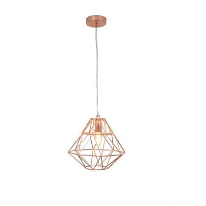 High Quality Modern Cage Rose Gold Pendant Light