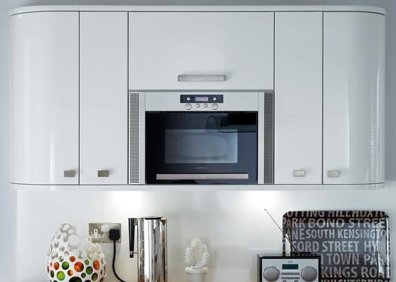 Integrated Microwave Top Unit With Lamona Wall And