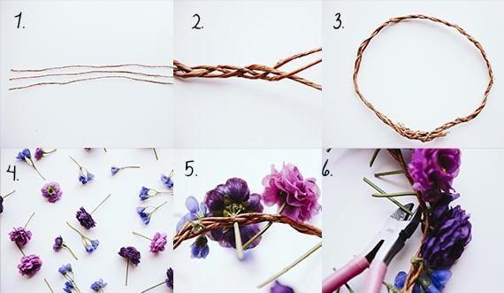 como hacer una corona de flores - Como Hacer Diademas De Flores