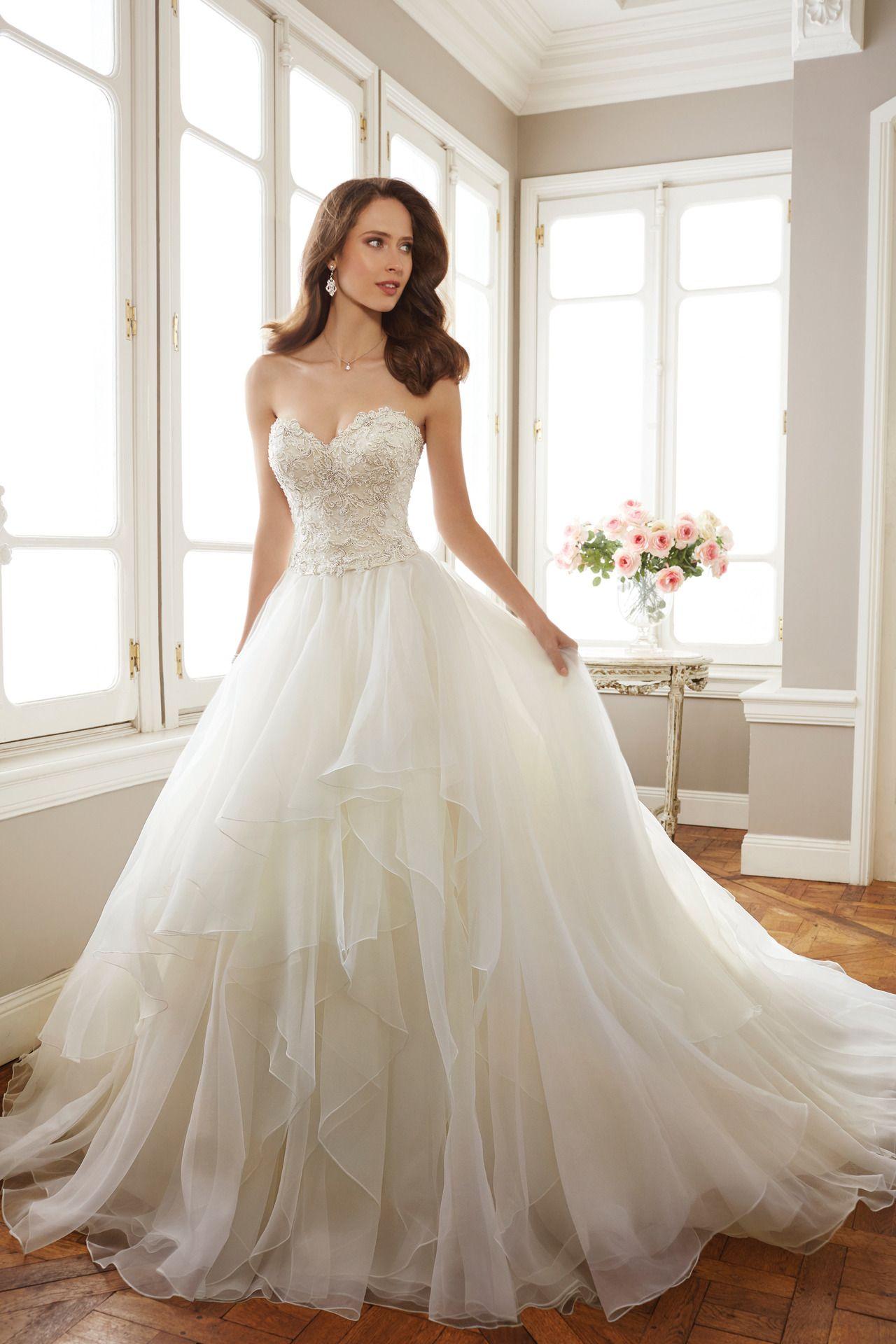 Two Piece Lightweight Fantasy Organza Full A Line Gown Set Strapless Sweetheart Bodice Heavily Ado Sophia Tolli Wedding Dresses Wedding Dresses Bridal Dresses