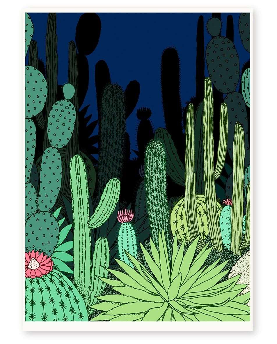 'Night Garden' Limited Edition Art Print is part of Night garden Illustration - 'Night Garden' is a limited edition giclée print of an original artwork by Annie Davidson (Melbourne, VIC)  Professionally printed on