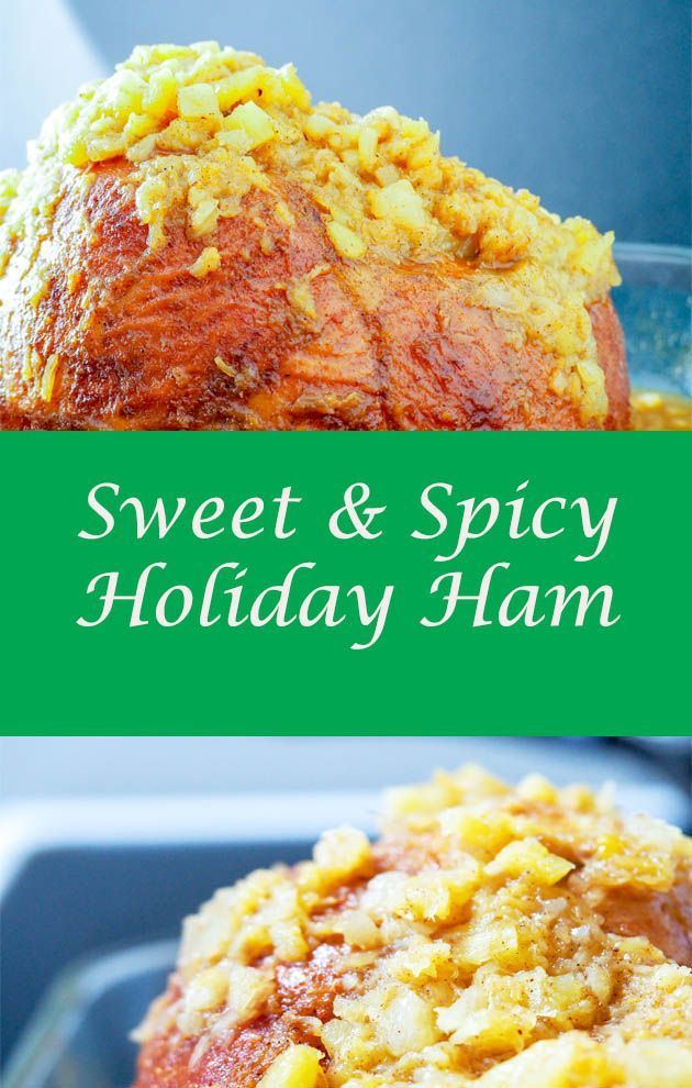 Ham A super easy ham that pretty much nofuss that balances spice with sweet for a fantastic holiday potluck or family meal via mondayismeatloaf