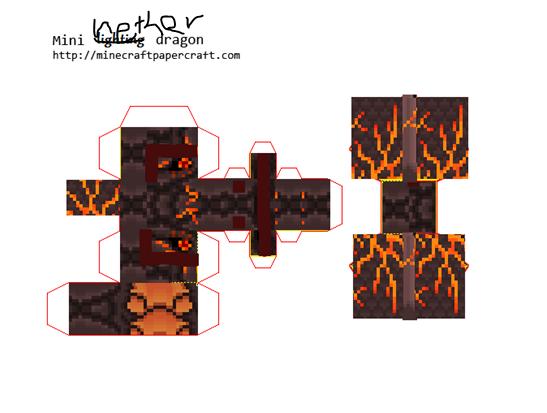 Nether Dragon Papercraft
