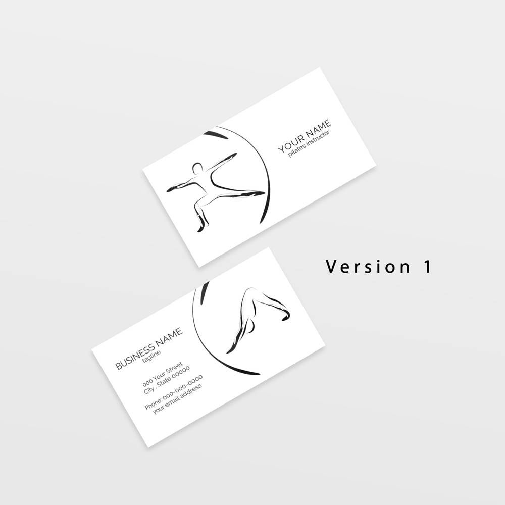 Yoga business card with two abstract poses yoga logo yoga yoga business card with two abstract poses yoga logo yoga instructor yoga studio reheart Image collections