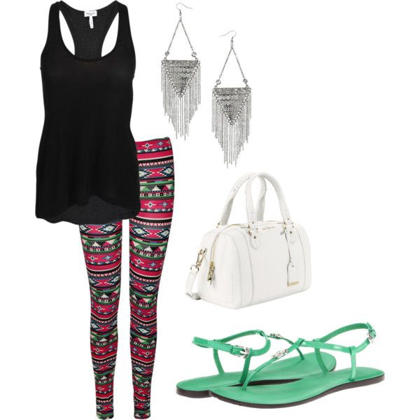 Hot Pink Aztec by sarahlizmulligan on Polyvore