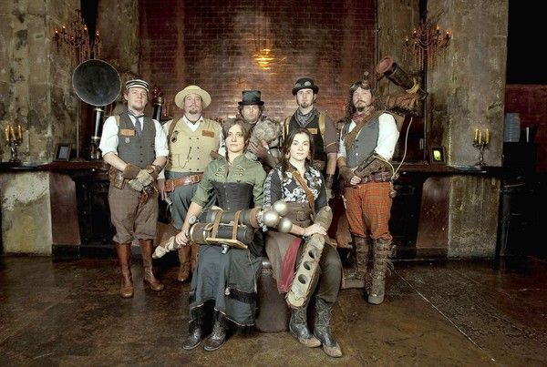 steampunk: members of the S.T.E.A.M. [Supernatural and Troublesome Ectoplasmic Apparition Management]. fans of victorian influenced movement with an eye for antiquarian style and do its yourself ingenuity.