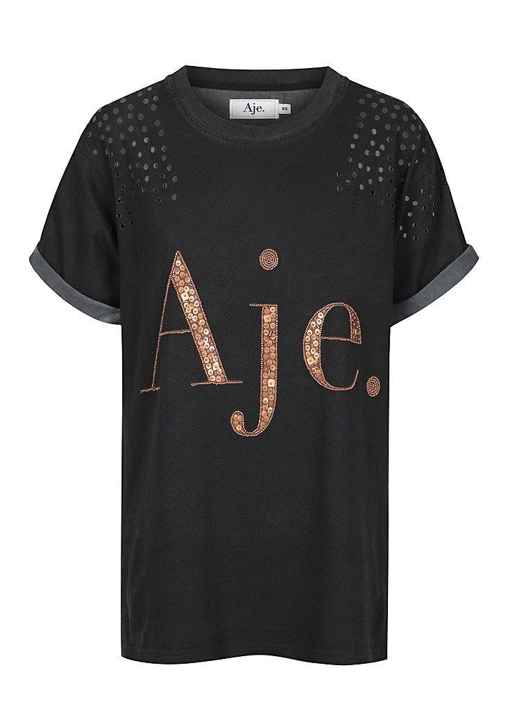23af93578b91f DESCRIPTION + The Distressed Aje Tee is the perfect basic to have in your  wardrobe.