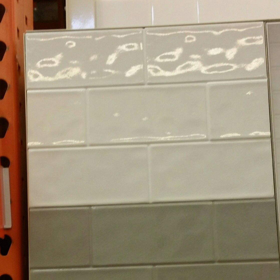 Excellent Crackled Pearl Subway Tile From Home Depot Backsplash Home Interior And Landscaping Pimpapssignezvosmurscom