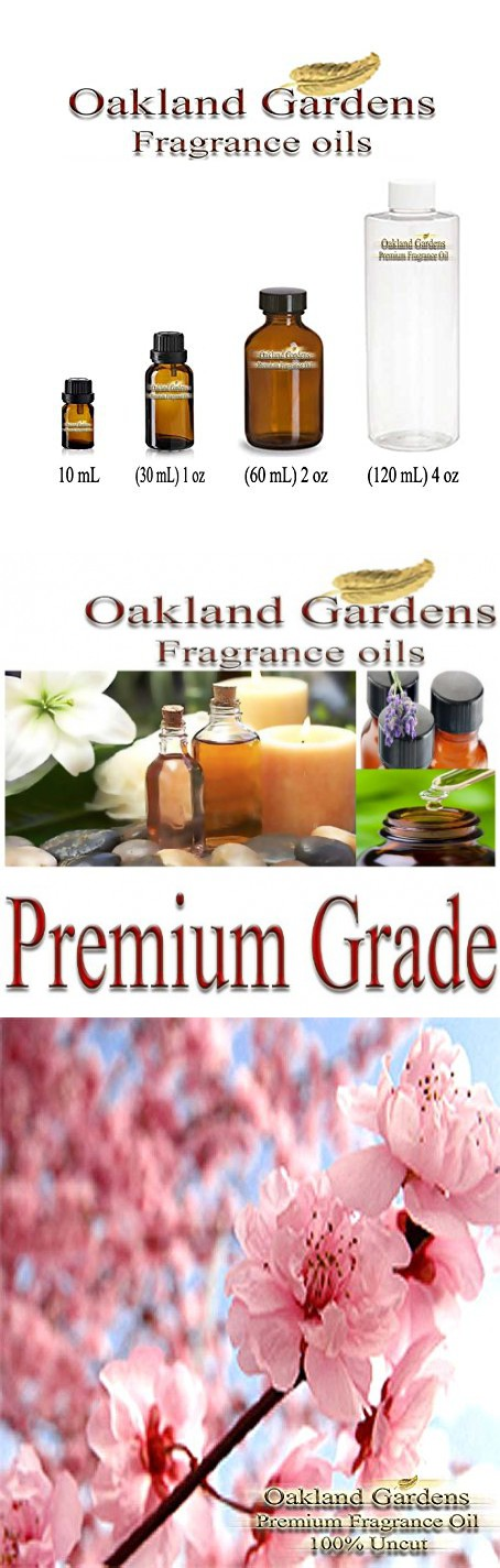 JAPANESE CHERRY BLOSSOM Fragrance Oil - 100% Pure Premium Grade Oil - Tender cherry blossom, sensual white lily and blushing violet petals blended with a hint of warm vanilla - By Oakland Gardens