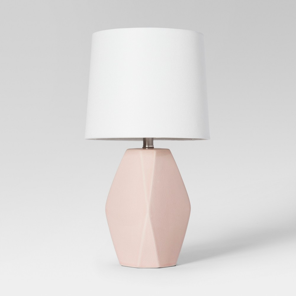 Modern Ceramic Facet Accent Table Lamp Mint Includes Energy