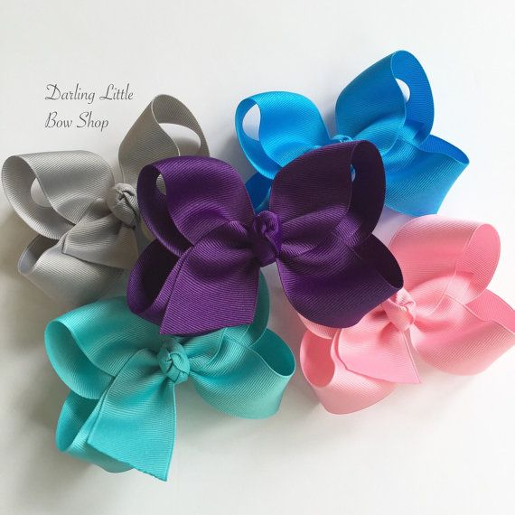 Large Boutique Bow Set of 5 bows  Sassy by DarlingLittleBowShop