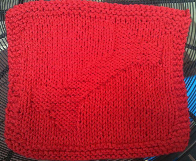 Ravelry Doggone Washcloth Pattern By Rebecca Westling Knitting