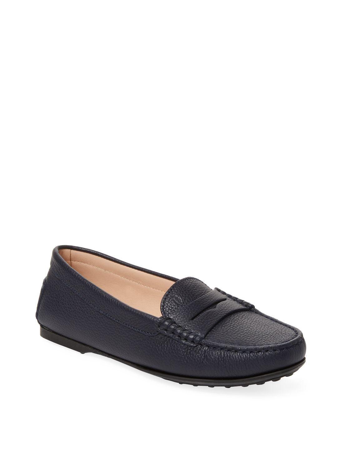 new styles fbdba cea49 TOD'S WOMEN'S CITY GOMMINO LEATHER PENNY DRIVER - SIZE 38 ...