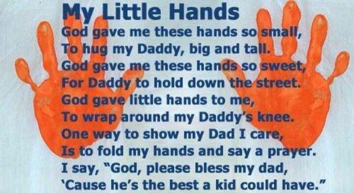handprint poem for dad