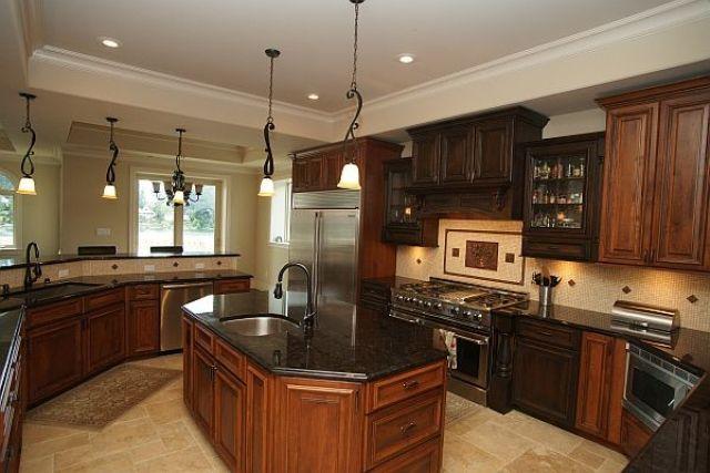 Tan Brown Granite With Dark Cabinets Tan Brown Granite