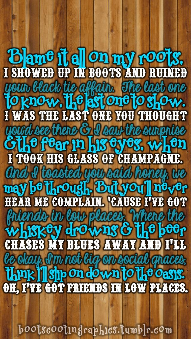 Garth Brooks - Friends in Low Places | Song Lyrics | Country