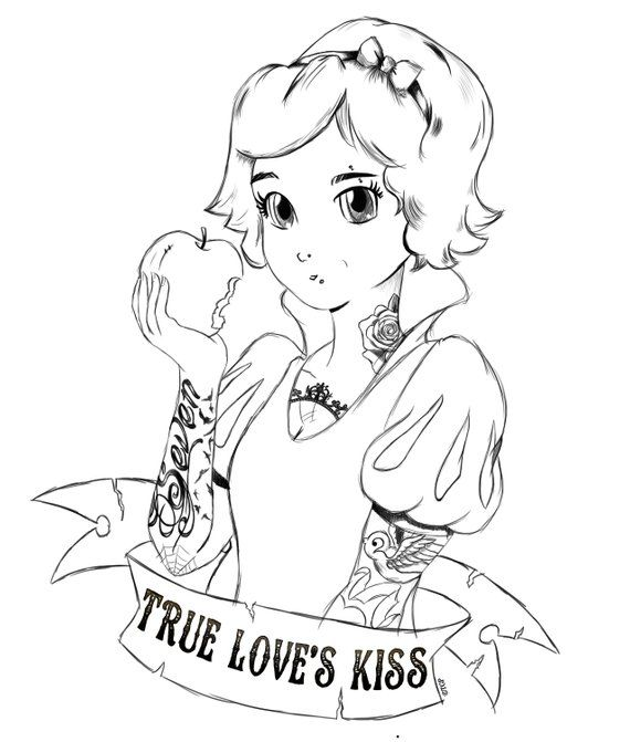 Punk Princess Snow White Colouring Page Etsy Snow White Coloring Pages Disney Coloring Pages Coloring Pages