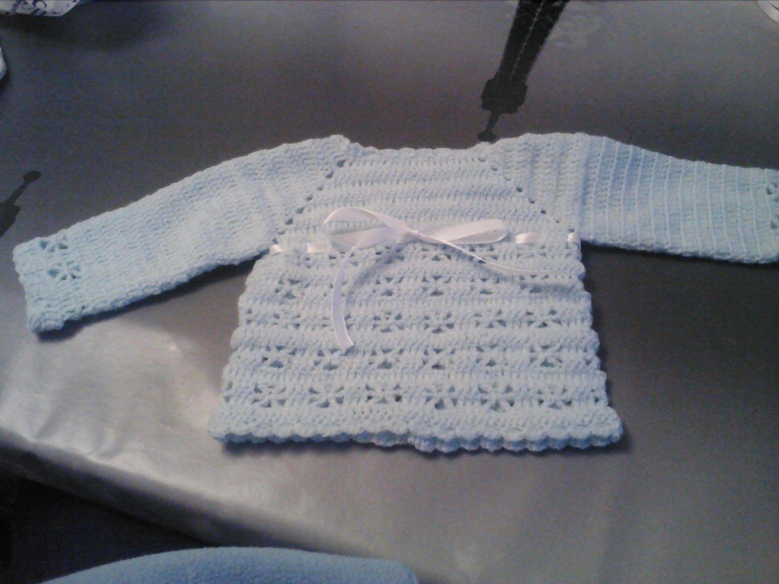 Todo ganchillo de maria jersey para bebe chaquetitas de - Labores de crochet para bebes ...