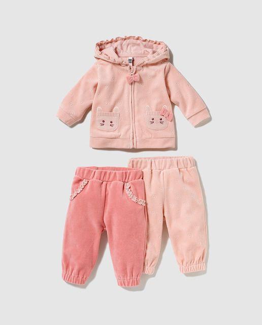 15c6de60c Conjunto de bebé niña Freestyle de tres piezas | costuras | Ropa ...