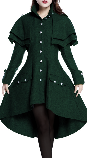 a221675706e Victorian Double Cape Coat --Chic Star design by Amber Middaugh ---Standard  Size  105.95 ---Plus Size Retail  119.95