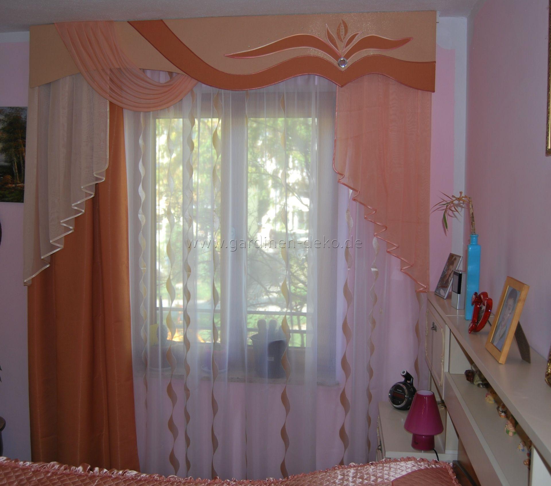 Deko · Lachsfarbener Schlafzimmer Vorhang ...