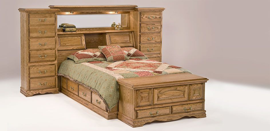 Furniture Traditions Mid Wall Bed Headboard Storage American Made Headboard Storage Furniture Oak Bedroom Furniture