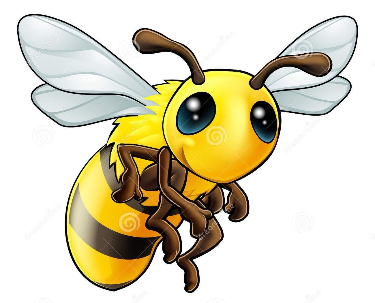 Illustration of an illustration of a cartoon cute bee character vector art clipart and stock vectors