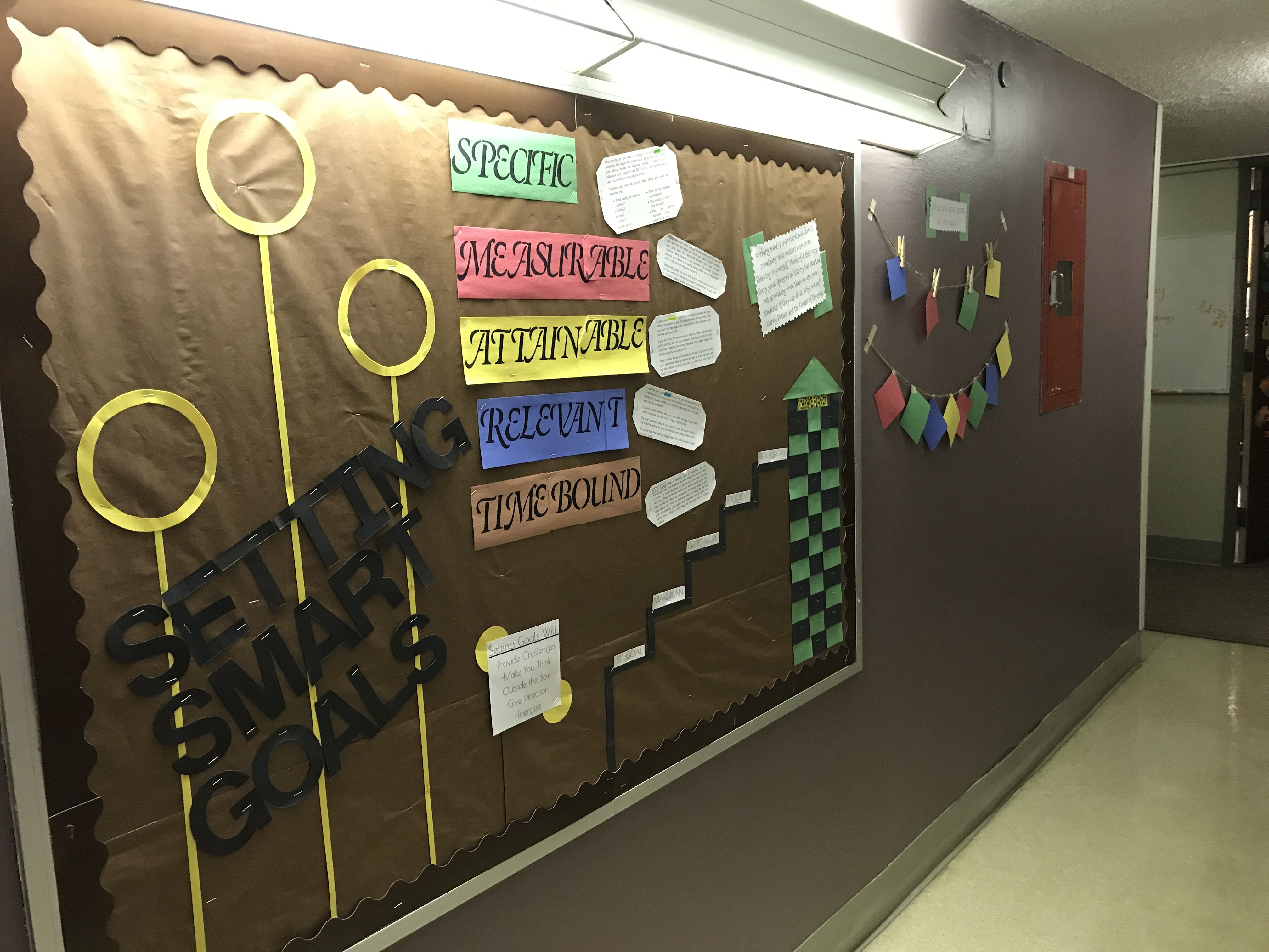 Setting Smart Goals Bulletin Board Bulletinboards