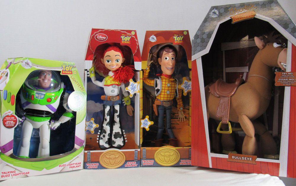Disney Pixar Toy Story Bundle Woody Jessie Pull String Doll Bullseye Buzz  Light  Disney 7c3effa488c