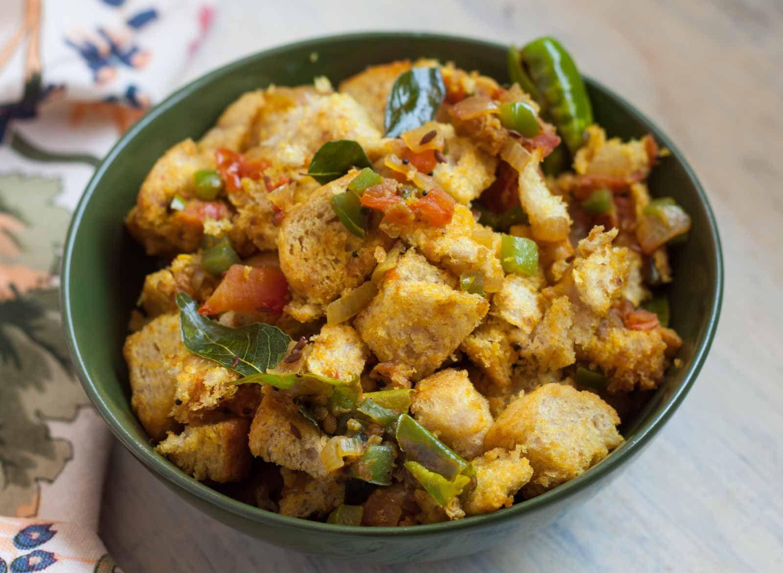 Spicy And Tangy Bread Upma Recipe | Recipe | Upma recipe ...