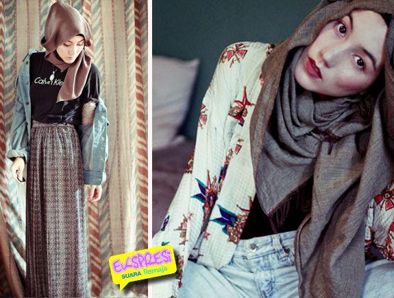 Hana tajima ekspresi suara remaja hijab fashion Hijab fashion style hana tajima