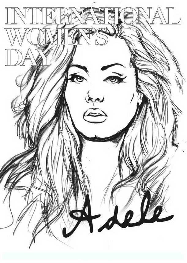 Adele3 Famous People Coloring Pages For Adults Rhpinterestcouk: Coloring Pages Of Hearts With Wings At Baymontmadison.com