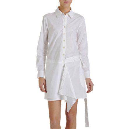Thakoon Addition - Wrap Around Shirt Dress.