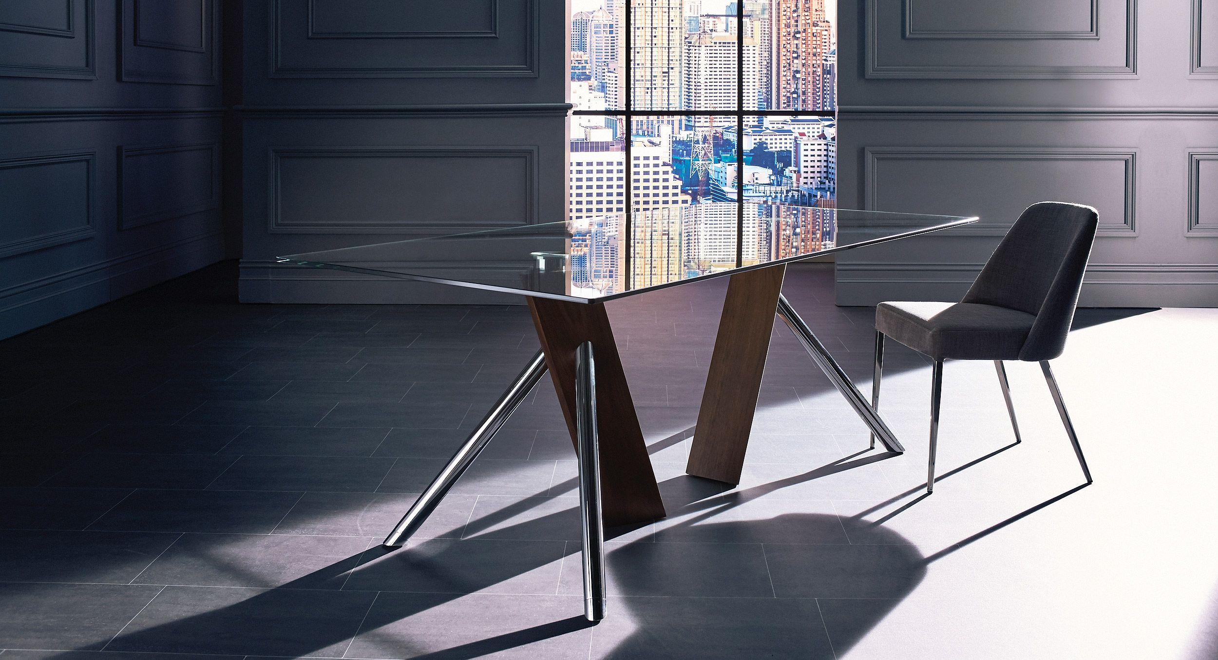 Anja Dining Table Round With Square Corners And 4 Chairs