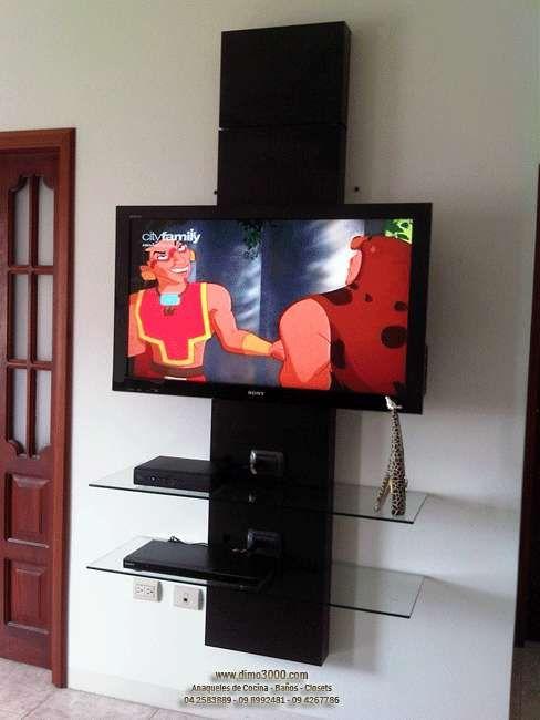 Muebles multifunci n para tv lcd plasma led audio for Muebles para televisor y equipo de sonido