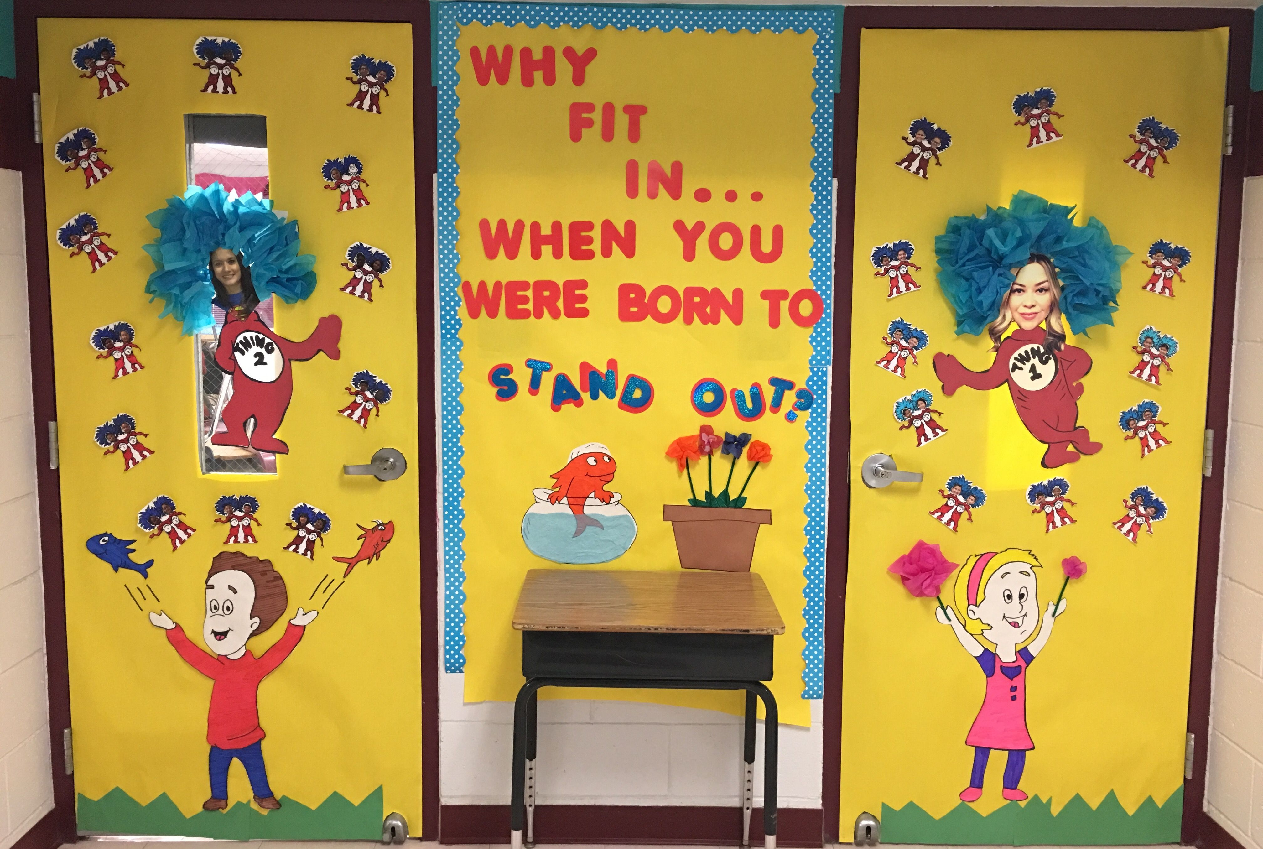 Dr. Seuss Door Decorating Contest. Thing 1 & Thing 2. Read ...