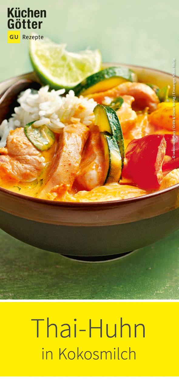 Thai-Huhn in Kokosmilch