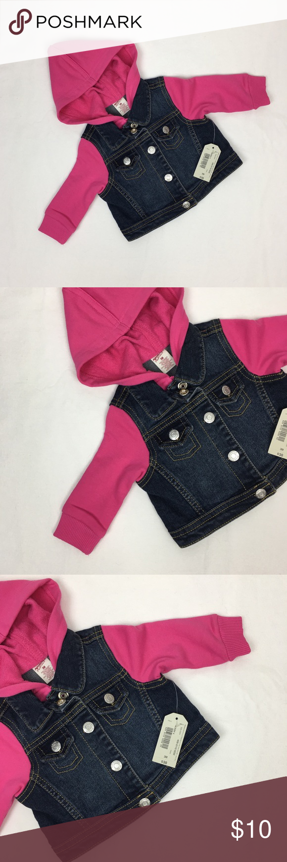 8f2e4efca53b Wrangler Pink Baby Girl Denim Jacket NWT NWT