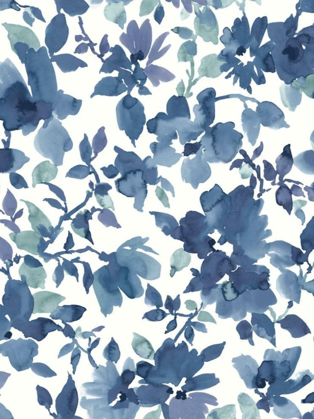 Peel And Stick Wallpaper Blue Floral