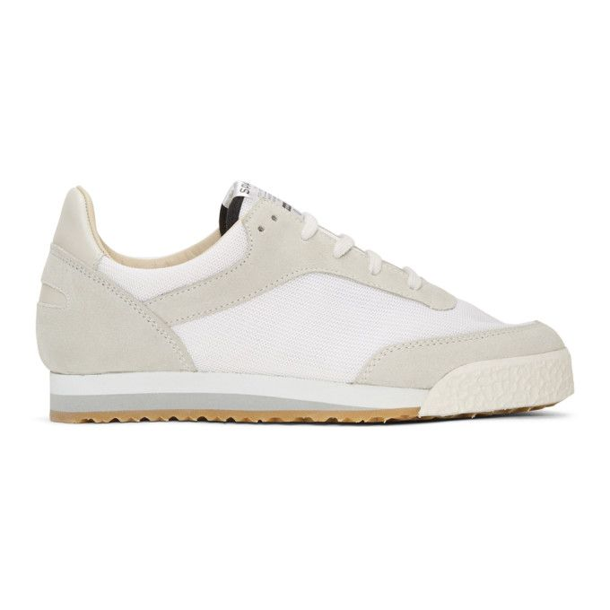 Spalwart White & Grey Pitch Sneakers