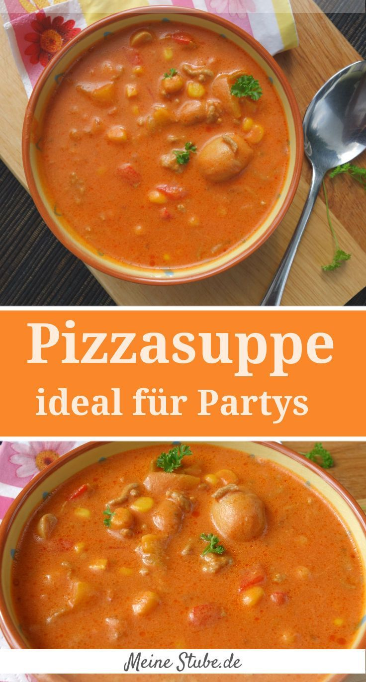 Photo of Pizza soup, ideal for parties or as a family meal – MeineStube