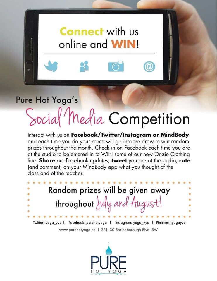 Social media competition starts TODAY!!! like our posts, checkin