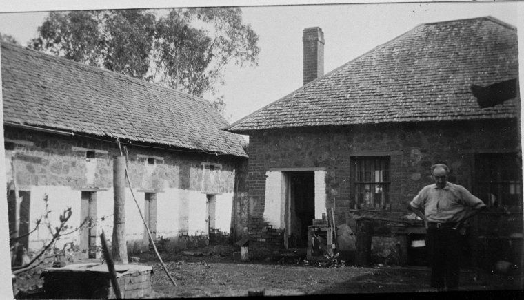 025827PD: Old Gaol, Toodyay, 1926. Moondyne Joe escaped from second cell from right.  http://encore.slwa.wa.gov.au/iii/encore/record/C__Rb3033210__Sprisons%20western%20australia__P5%2C137__Orightresult__U__X3?lang=eng&suite=def#attachedMediaSection