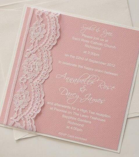 A Mint Green And Pink Invitaciones Invitaciones De Boda Y
