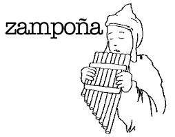 Resultado De Imagen Para Zampoña Dibujo Musica Perú Obras De