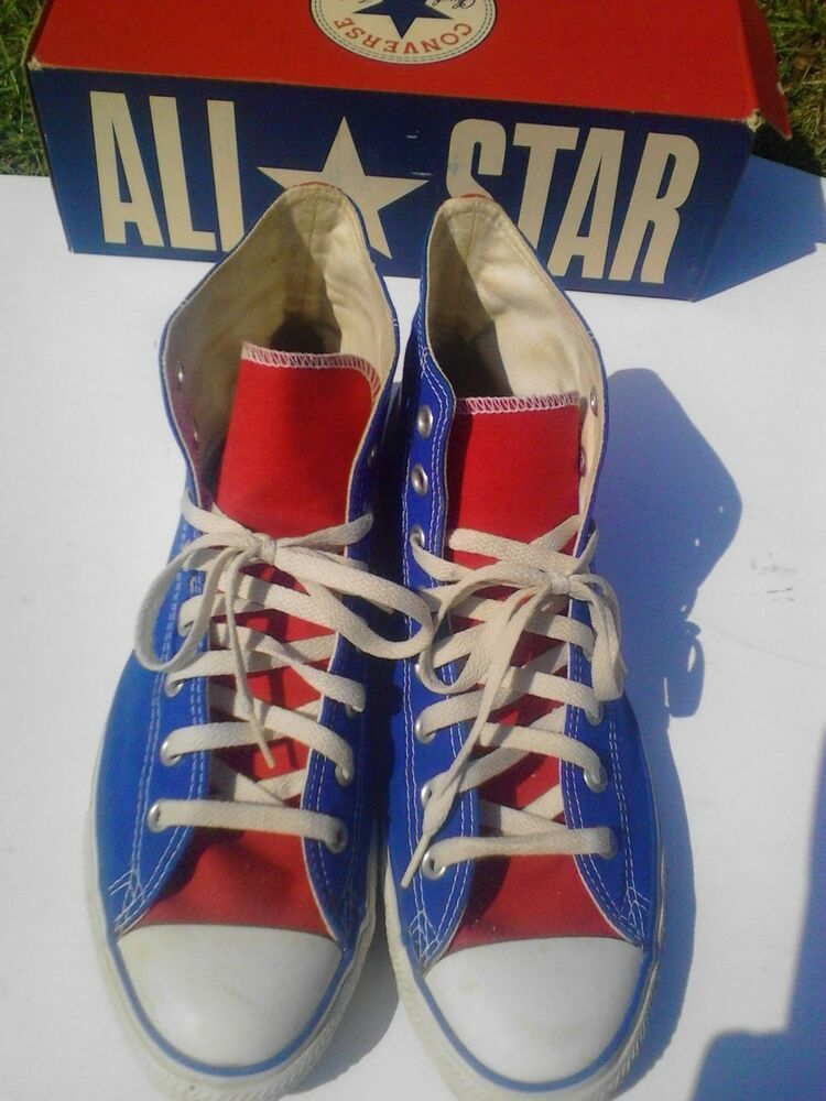 eBay Sponsored) Vintage Converse 1J730 Red White & Blue